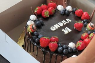 Ondra oslavil 14. narozeniny